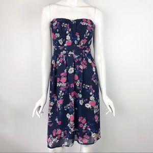 Torrid Floral Strapless Dress